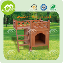 Exquisite wooden dog house with balcony, dog house model
