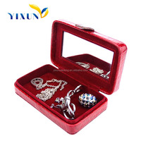 Custom Lovely heart shape artificial leather jewelry storage gift box for Women