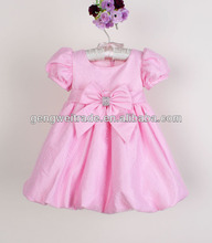 latest baby party dress,bowknot,Lantern design 2014