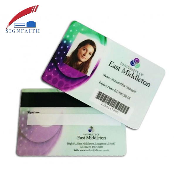 Customized Design Photo Barcode Smart ID Card