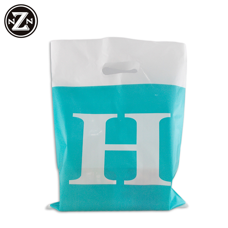 HDPE/LDPE Die Cut Patch Handle Custom Plastic Merchandise Retail Bags With Own Logo Guangzhou Manufacturer Shopping Bag