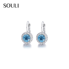 China Jewelry attractive alloy artificial rhinestone crystal clip-on earring
