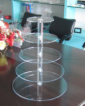 Promotional multi-tire clear acrylic wedding cake cupcake display stand