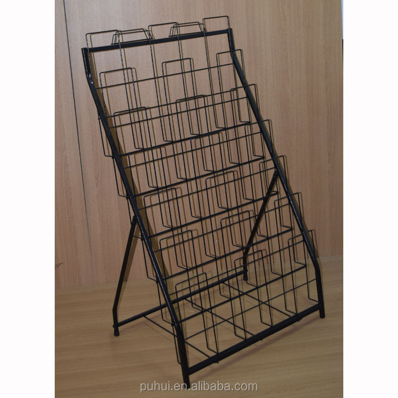 6 layer metal foldable door mats display rack with good price