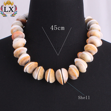 NLX-00883 wholesale handmade bead jewelry leisure men alloy necklace summer cowrie shell necklace fashion beads necklace for men