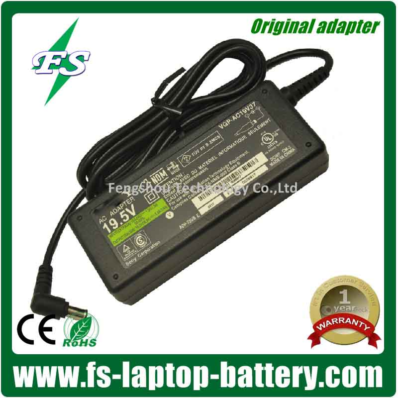 Genuine laptop adapter for Sony 19.5V 3.9A 76W AC Adapter Charger VGP-AC19V37 VGP-AC19V19