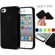 Jelly Glossy Silicon Soft Tpu Phone Case For Apple iPhone 4 Cover Case