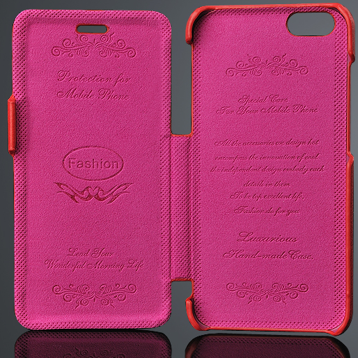 OEM Free sample best quality genuine leather cover phone case for IPHONE 6
