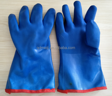 China manufacturers pvc dipped anti oil chemical resistant winter warm rubber sandy protective vinyl safety work gloves