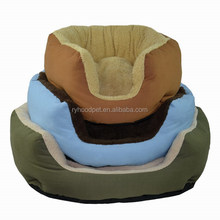 High quality factory supply soft polyester cotton canvas slipper pet dog round bed