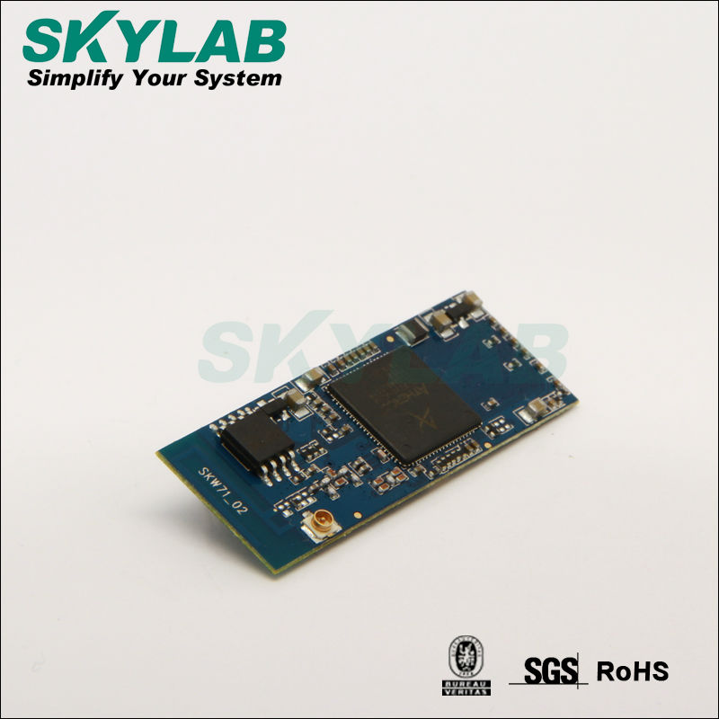SKYLAB SKW71qualconn atheros AR9331 FCC/IC/CE USB/WAN/LAN/UART support openWRT system AP/Router wifi module