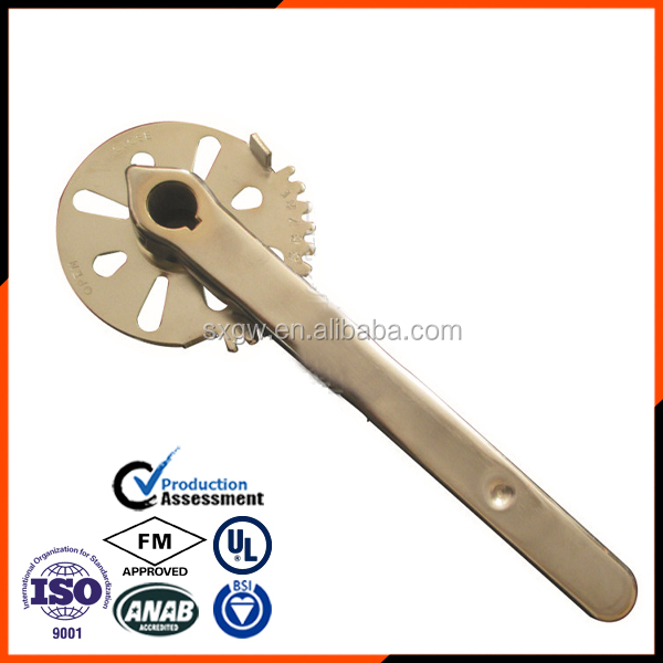 Material SS304 Lever Butterfly Valve For Industrial Chemicals