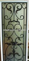 2014 HOT SALE! wrought iron glass with frame for windows and doors