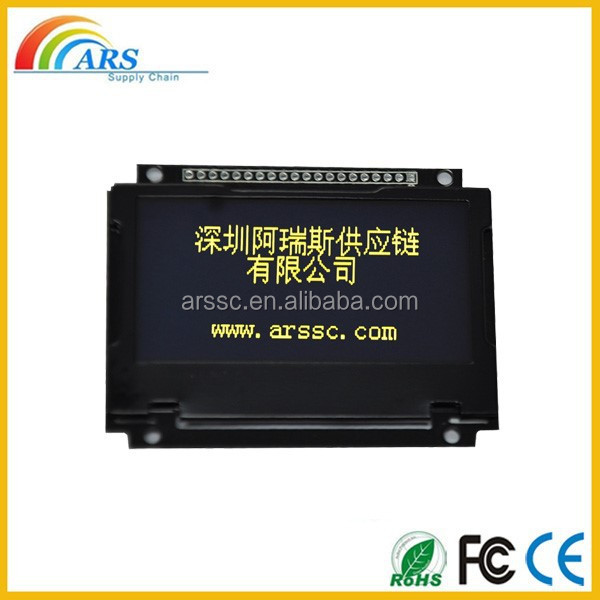 2.4'' OLED display module for dashboard from shenzhen lcd manufacturer