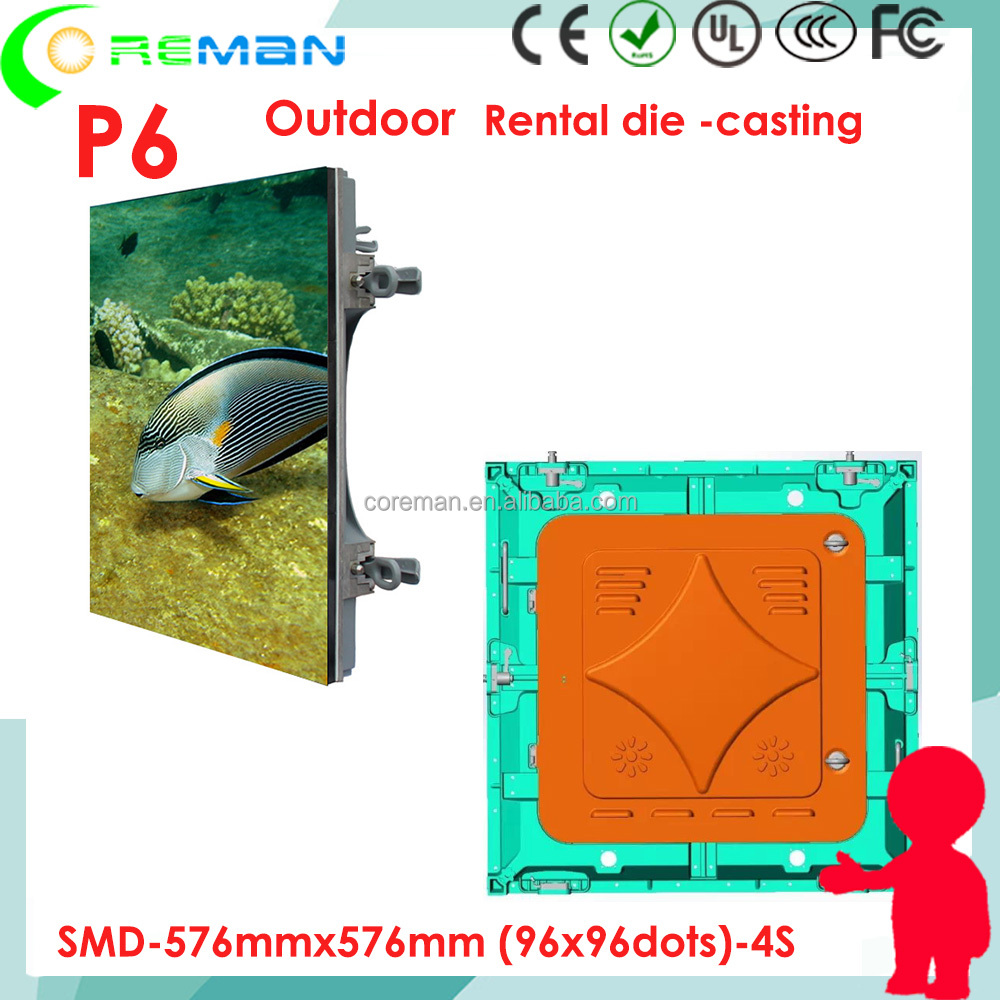 x video x china P6 outdoor rental led display , 576*576mm rental cabinet lightweight , cheap proce p6 outdoor smd led sign