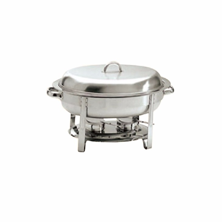 MUK wholesale restaurant steel buffet food serving oval chafing dish