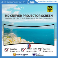 Multimedia projector and screen 3D silver curved frame projector screen