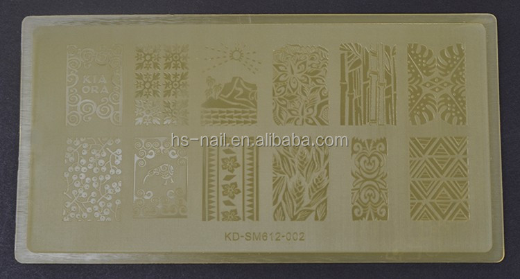 2016 OEM transparent colorful plastic image plate for nail art stamping