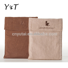 Top quality jute cover bag/promotion recycle canvas storage bag
