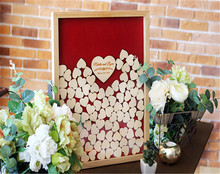 Wedding Guest Book Wood