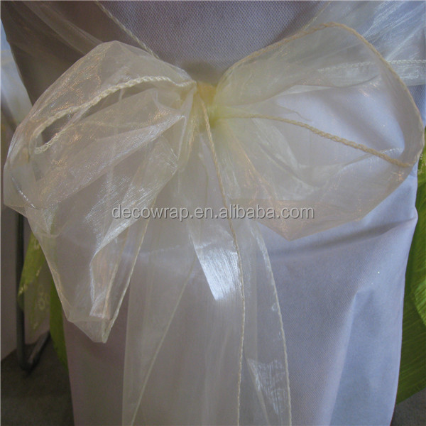 Cheap Organza Christmas Chair Cover Sash