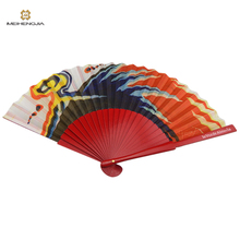 Latest Fashion excellent quality Mexico red lacquer hand fan