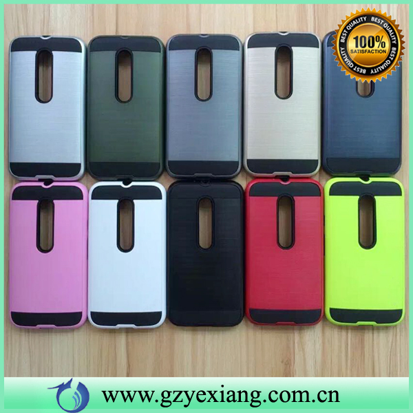 High Quality Armor Shockproof Protective Back Cover Case For Moto G 3rd Gen Case