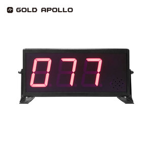 Gold Apollo- 18 month warranty Black English voice prompt Indoor 3 or 6 Digit LED Token Number Display