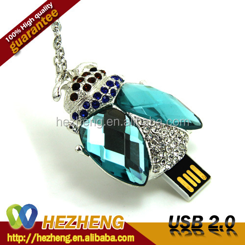 New Jewelry USB Product Wholesale 1GB Diamond USB Lipstick Flash Drive Customized
