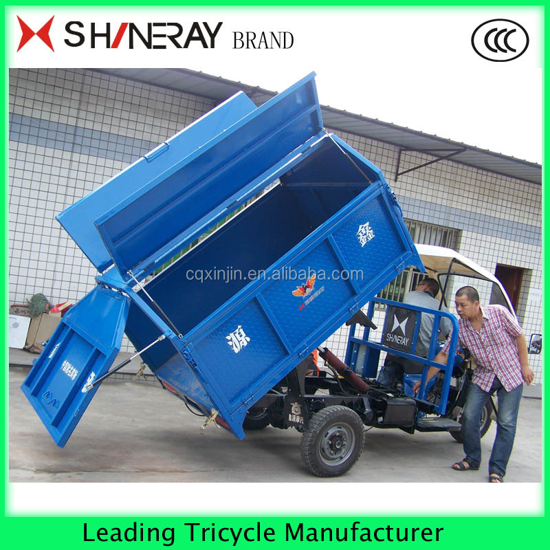 Hot sale Popular motor tricycle made in China petrol garbage tricycle for adults