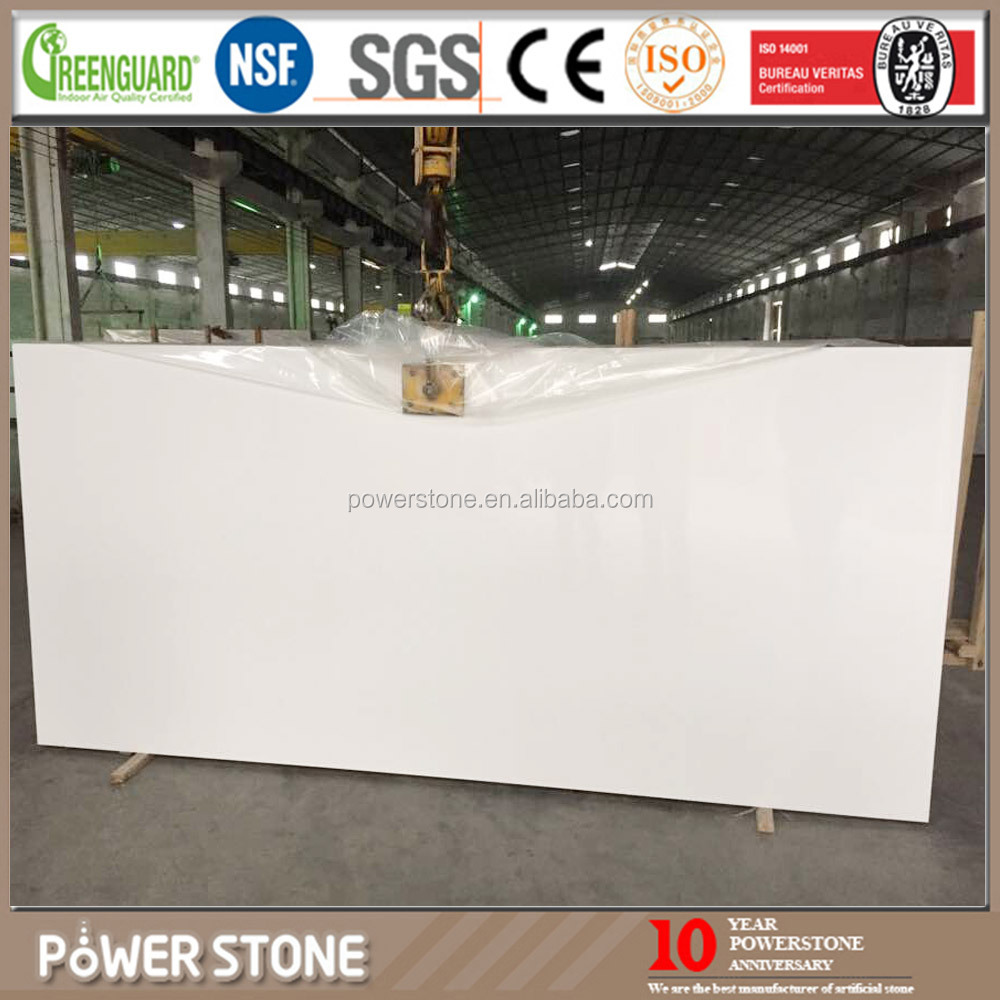 China engineered artificial quartz stone of snow white color