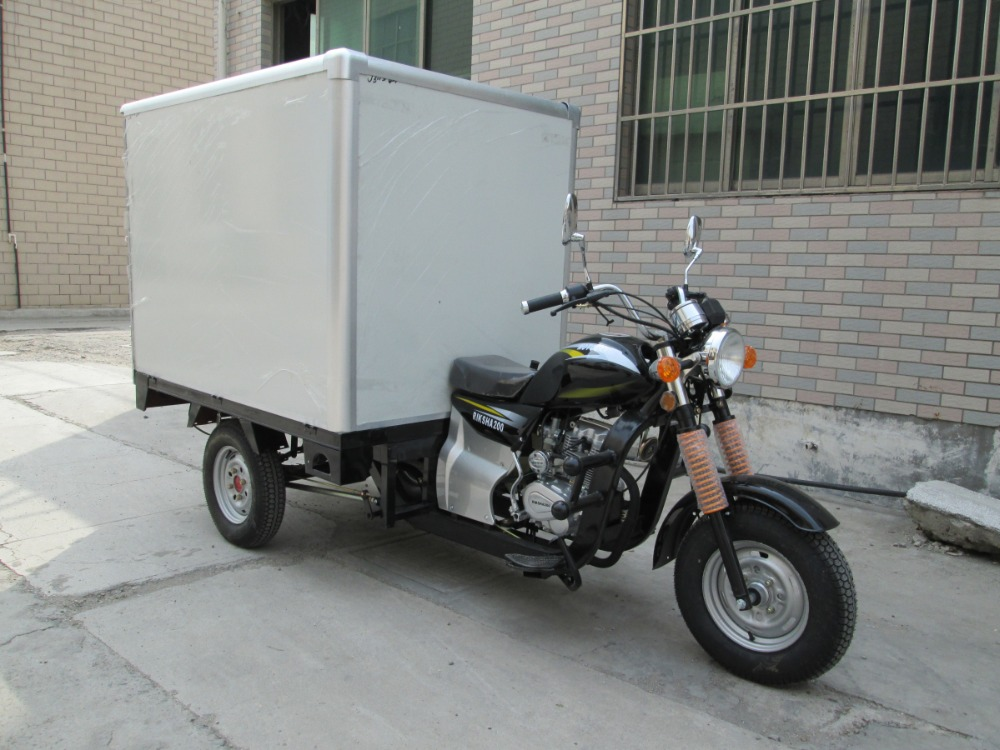 150cc 200cc 250cc 3 wheel motorcycle/ petrol tricycle cargo with closed box