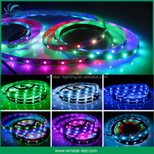 DC 5V 30/60/124 leds per meter 8mm/10 mm pcb WS2812B magic digital dream color rgb led strip