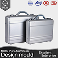 HLW wholesale lock aluminum silver attache case