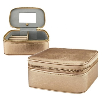 Cheap Price Luxury Mirror Box Wholesale Mirrored Jewelry Box Travel Ring Case Leather Organizer