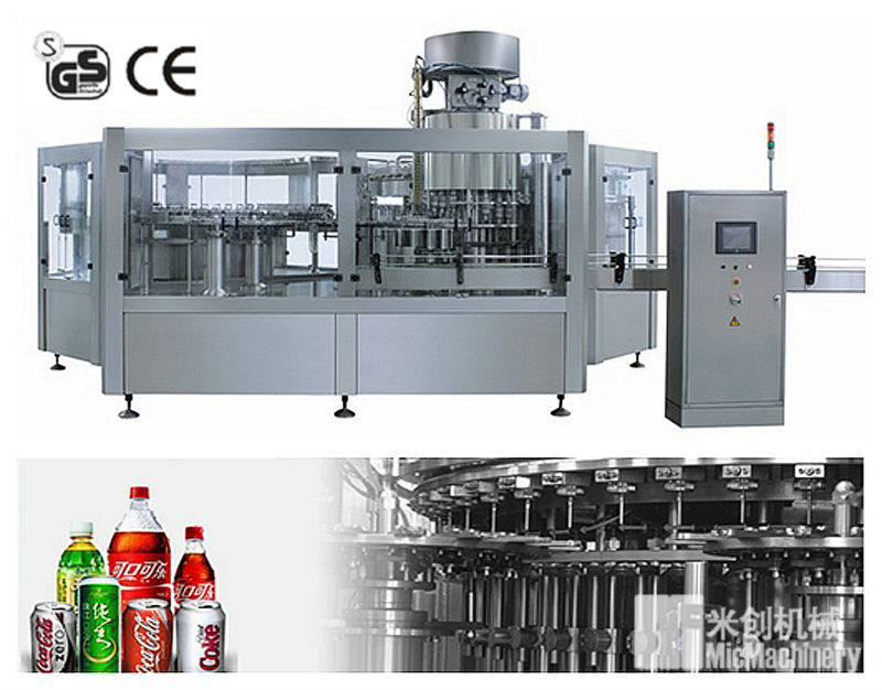 MIC-24-24-8 micmachinery 8000BPH automatic machine manufacturer of carbonated drinks/water bottling plant with CE