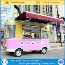 Top Quality Customizable Electric Chinese Mobile Food Cart / Street Style Food Truck / Mini Machine Food