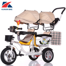 Licensed CE Baby Car Newest Perfect Design Two Seats Children Tricycle