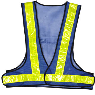 100% polyester Fluorescent knitted safety vest
