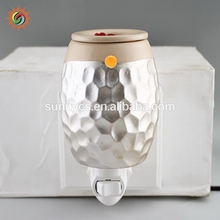 Wide use durable plug electroplate candle custom wax oil burner ceramic fragrance warmer