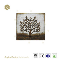 Famous tree wall painting laser cut aluminium home wall painting wall art panel