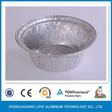 Best-Selling Environmental Pollution-free 0.07mm Disposable Aluminum Foil Round Bowl For Food Package Food Bowl