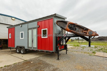 RDQ China log prefab trailer houses container with toielt