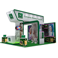 Detian offer fashion trade show booth moduar display exhibition equipment