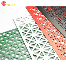 Decorative Powder coated perforated steel mesh for screen with best price