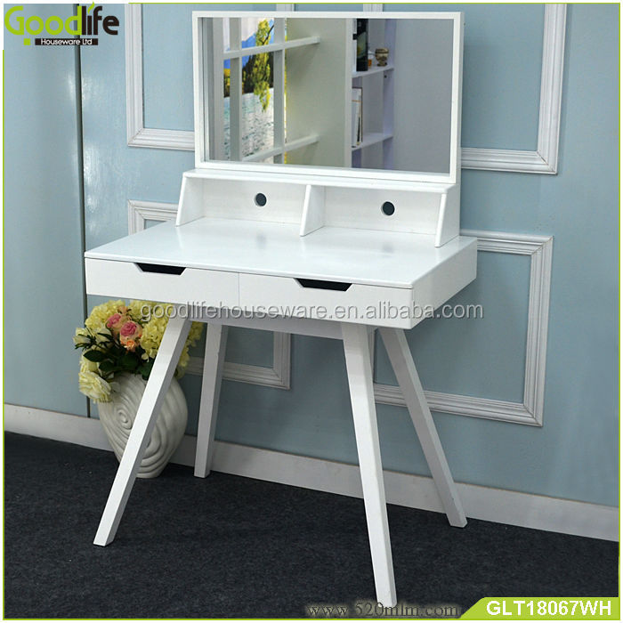 White MDF wooden study table with crib