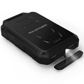 RAVPower 10050mAh Waterproof Dustproof and Shockproof Power Bank Built-in Flashlight Black