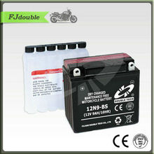 12N9-BS Battery/Maintenance free Dry Charge Motorcycle battery 12V9AH