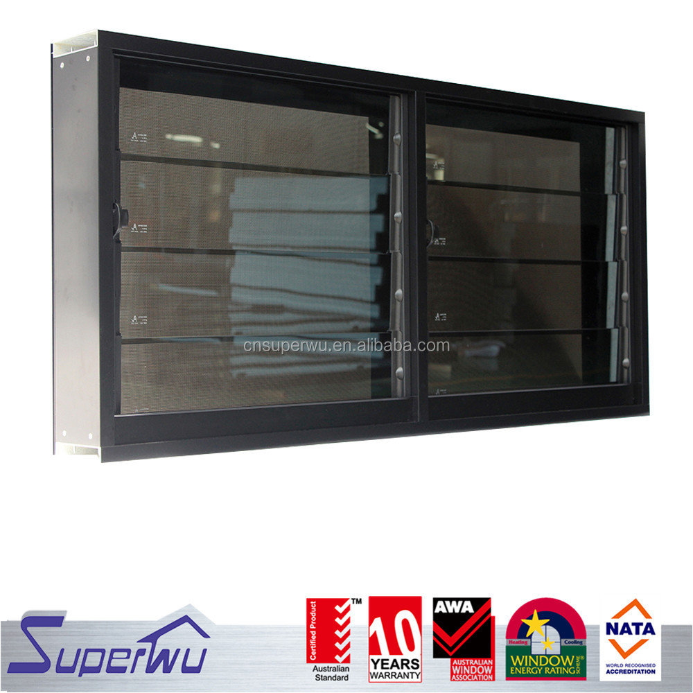 Adjustable aluminium profile glass louver window good price of louver window