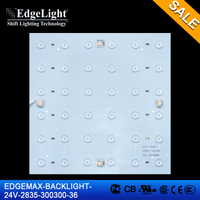 Edgelight EDGEMAX-BACKLIGHT-24V-2835 module , white/warm white/cool white led module display , CE/ROHS/UL LED module